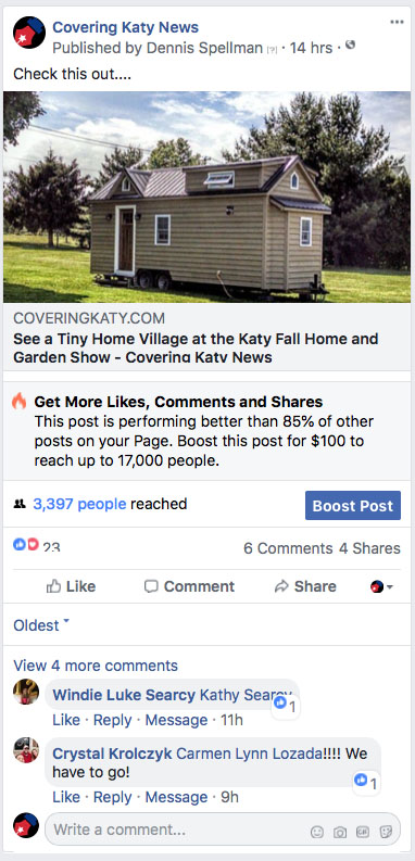 Covering Katy